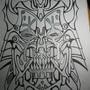 18x24 demon by jwaphreak