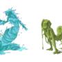 Monster girls: Slime by Cenaf