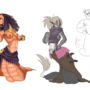 Monster Girls: Naga by Cenaf