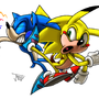 Sonic vs Sonichu by jaxxy