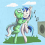 Lyra and Scratch by draneas