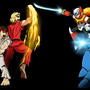 Ryu, Ken V Megaman X, Zero by 7darkriders