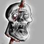 Impaled head by UltimatePoke