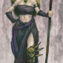 Frost Maiden with Bloody Spear by Dungeonsketch