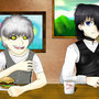 Riao and Alex having lunch by Zera-Luminariam