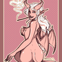 Demon Chick Pin-Up