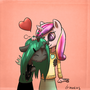 Chryssi and Cadance by draneas