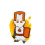 Castle Crashers: Orange Knight by Irishanimation