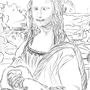 My sketch of Mona Lisa by pOutatO