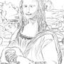 My sketch of Mona Lisa