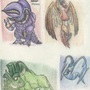 colored pencil creatures by megadrivesonic