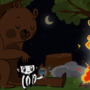 Flicka, Bear and Diamond by HolyKonni