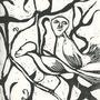 Nosy Birdies (linework) by linda-mota