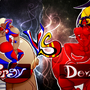 Cock Fight; Purgy VS. Devina by 666zarike