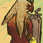 Blaziken is urinating by Forty-One