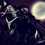 Dark Link and Epona by tatsumaru7