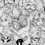 Super Mario Bros B&W by Evilx180