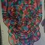 18x24-strange clown by jwaphreak