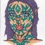 8.5x11 alien female by jwaphreak