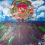 abstract skyline - acrylic pai by Tropicana