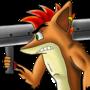 Crash Bandicoot and bazooka by EDGG-sketch