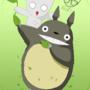 Meko and Totoro by TechLeSSWaYz