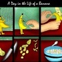 A Day in the Life of a Banana by jaredthegraphicnoob