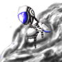 Bluu robot(yes, Bluu) by johnnydpanda