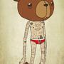 Wading Bear by sketchnate