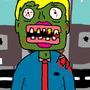 #Lipstick Zombie by GeorgeDudmanCartoons