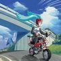 Miku riding by pablocomics