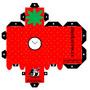 StrawberryClock Papercraft by IndustrialIndustries