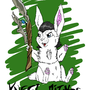 Kneel to Loki the Bunny by That-One-Goose