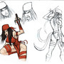 ELEKTRA SKETCH by Sabrerine911