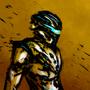 Sci-Fi biker by TheSilentDane