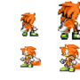 my sonic characters sprites