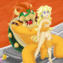 Peach and Bowser by PurplePrawn