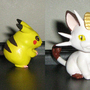 Pikachu and Meowth Sculpture by Mario644