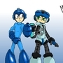 Megaman and Mighty No. 9 by MylesAnimated