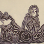 Sharpie woman with wolf by Escapement