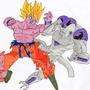 Goku vs Frieza by duffosaur