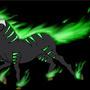 green fire horse by dragorazer