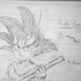 Kid Goku with his Power Pole by sbproductions