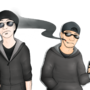 The Twats in Black by MelonConCarne