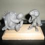 Ren & Stimpy Sculpture by Mario644