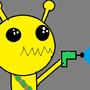 Alien Hominoid Sketch (Stupid) by pengunick