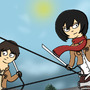 Mikasa and Eren by StalkerPT