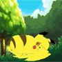 wild pikachu by holydemon13