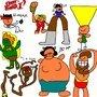 The cast of Street Fighter II by Wegra
