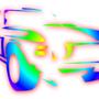rainbow car by graphgod